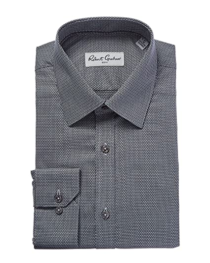 Amazon Com Robert Graham Men S Fox Dress Shirt Grey 15 Clothing