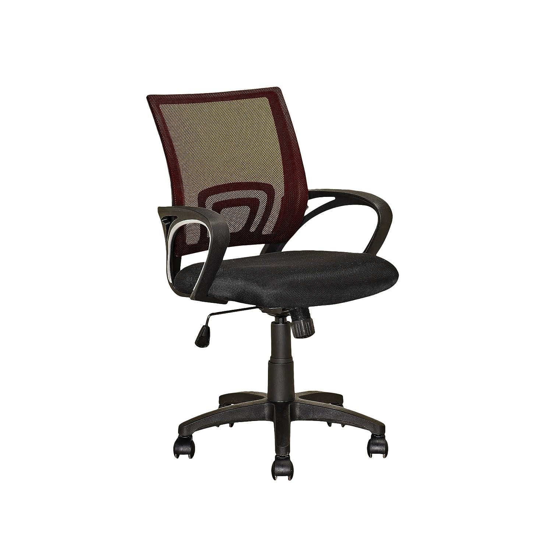 Dark Brown CorLiving LOF-313-O Workspace Purple Mesh Back Office Chair
