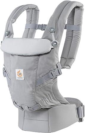Ergobaby Mochila Portabebés Ergonomicas para Recién Nacido a 20kg, Adapt 3-Posiciones (Gris)