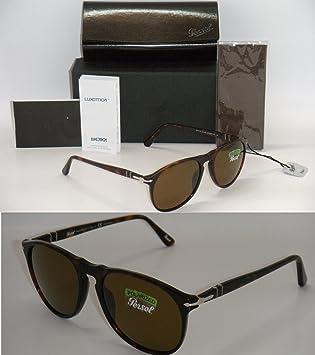 e079a0538b New Authentic PERSOL 9649 Sunglasses Havana Frame Brown Polarized PO 9649-S  24 57 55mm  Amazon.ca  Sports   Outdoors