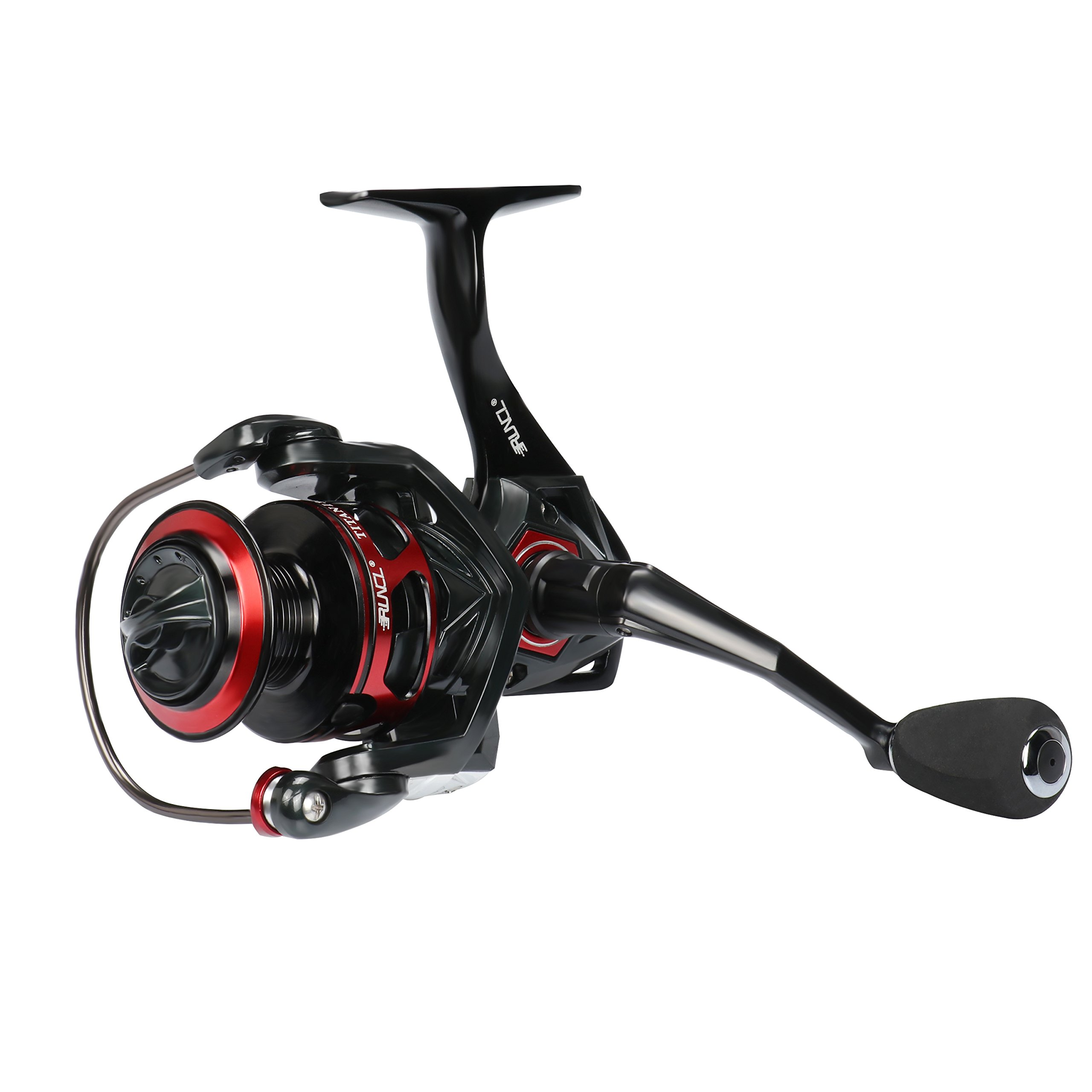RUNCL Spinning Reel Titan I, Fishing Reel with Full Metal Body, Max Drag 44LB, 5 Carbon Fiber Drag Washers, 9+1 Stainless Steel Shielded Bearings, Hollow Out Rotor for Saltwater and Freshwater (5000) by RUNCL (Image #7)