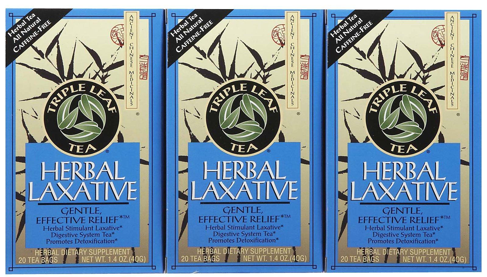 Triple Leaf Tea Herbal Laxative -- 20 Tea Bags