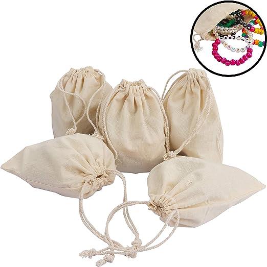 Bolsas de Muselina de Algodón (paquete de 10) - 15cm x 12.5cm ...