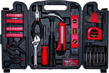 CARTMAN 148-Piece Tool Set General Household Hand Tool Kit with Plastic Toolbox Storage Case