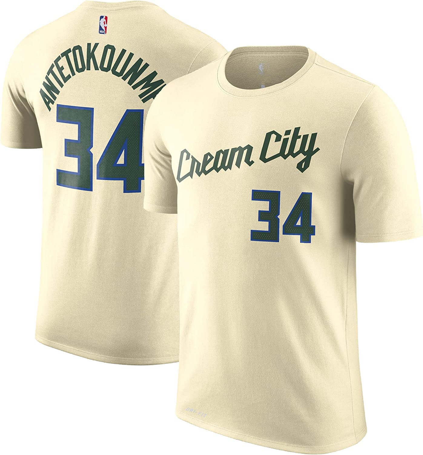 NBA Youth 8-20 Performance Dri Fit City Edition Name /& Number Player T-Shirt