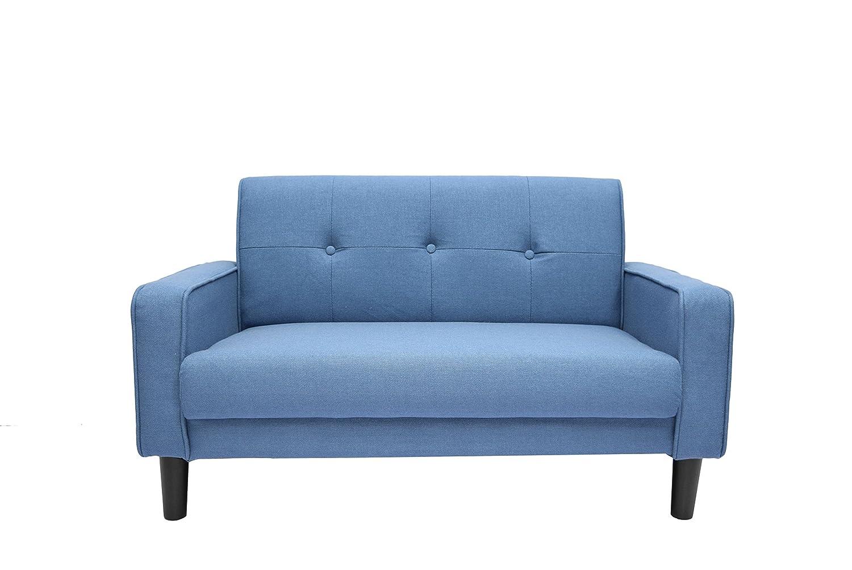 OSLEEP ソファー 2人掛け ローソファー sofa 簡単組み立て ぴったりフィット ソファーカバー 肘付き おしゃれ WF037851 (ネイビー)  ネイビー B0778JH43L