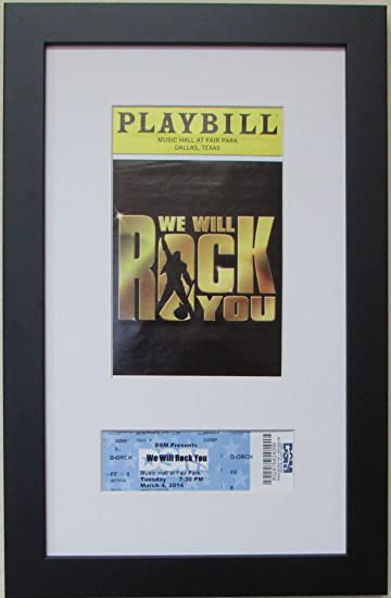 Amazon.com - Playbill Frame with Ticket- Black Wood Frame with White ...