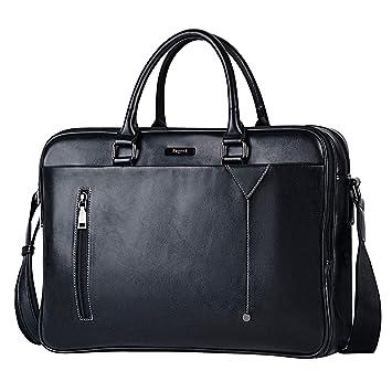 15 Zoll Männer Handtasche Aktentasche Tasche Für Mann Solid Black Schulter Taschen Aktentaschen Männer Reise Große Tasche Pu Leder Handtaschen Aktentaschen
