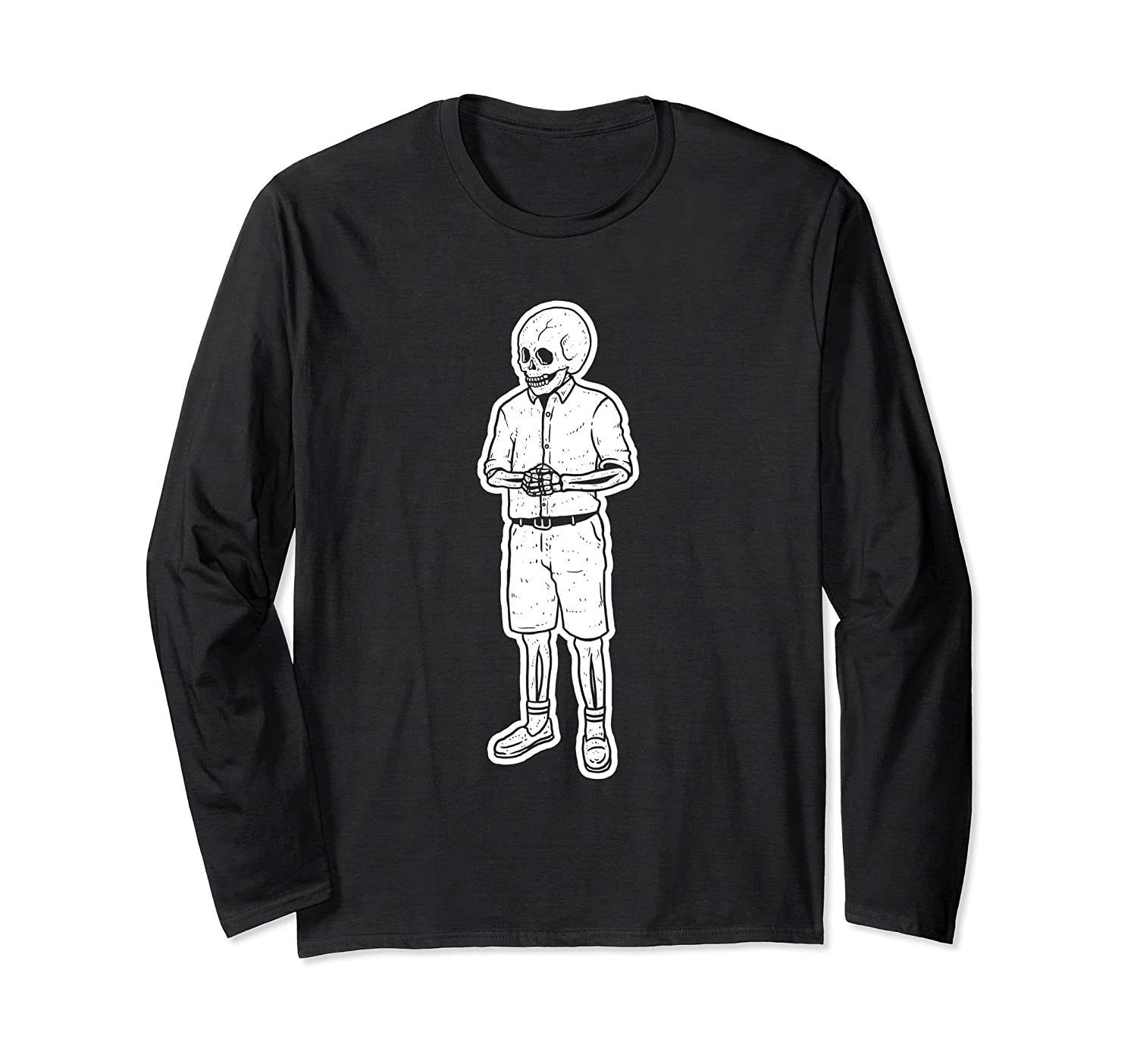 You Know I Had To Do It Skeleton Long Sleeve Shirt-mt