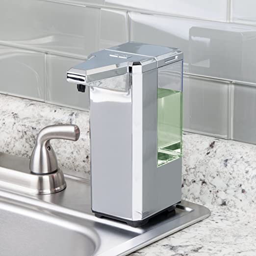 Amazon.com: mDesign Hands Free, Touchless Automatic 17 oz. Liquid Soap Dispenser Pump - Motion Sensor, Low Battery Indicator, 5 Modes of Dispensing, ...