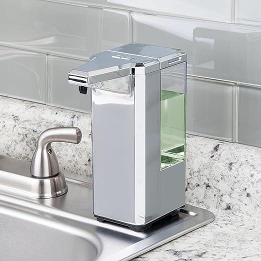 Amazon.com: mDesign Hands Free, Touchless Automatic 17 oz. Liquid Soap Dispenser Pump - Motion Sensor, Low Battery Indicator, 5 Modes of Dispensing, ...