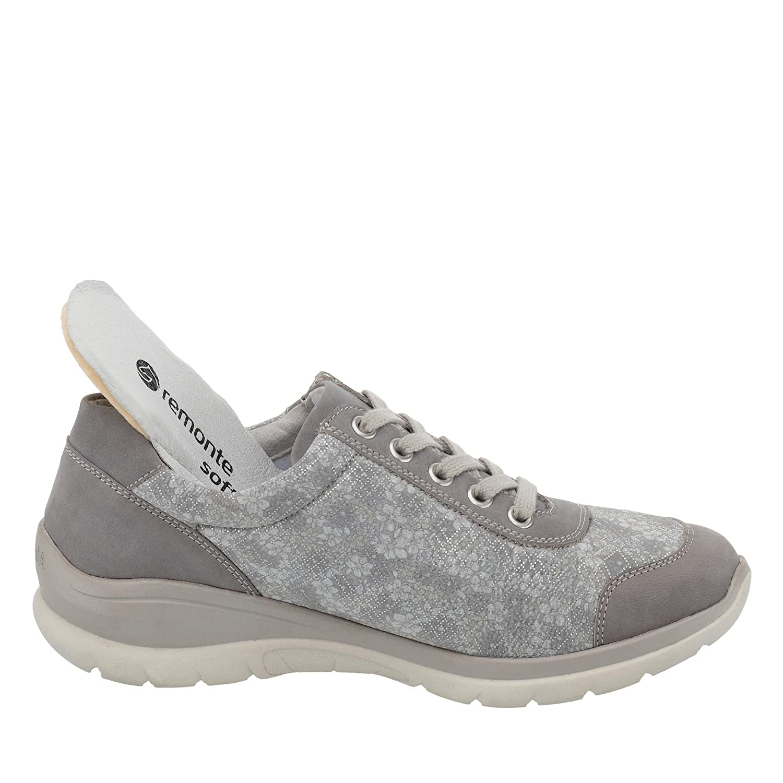 Remonte Low Cementsilverflower Zapatos GreyCement Mujer dxoQBeErCW