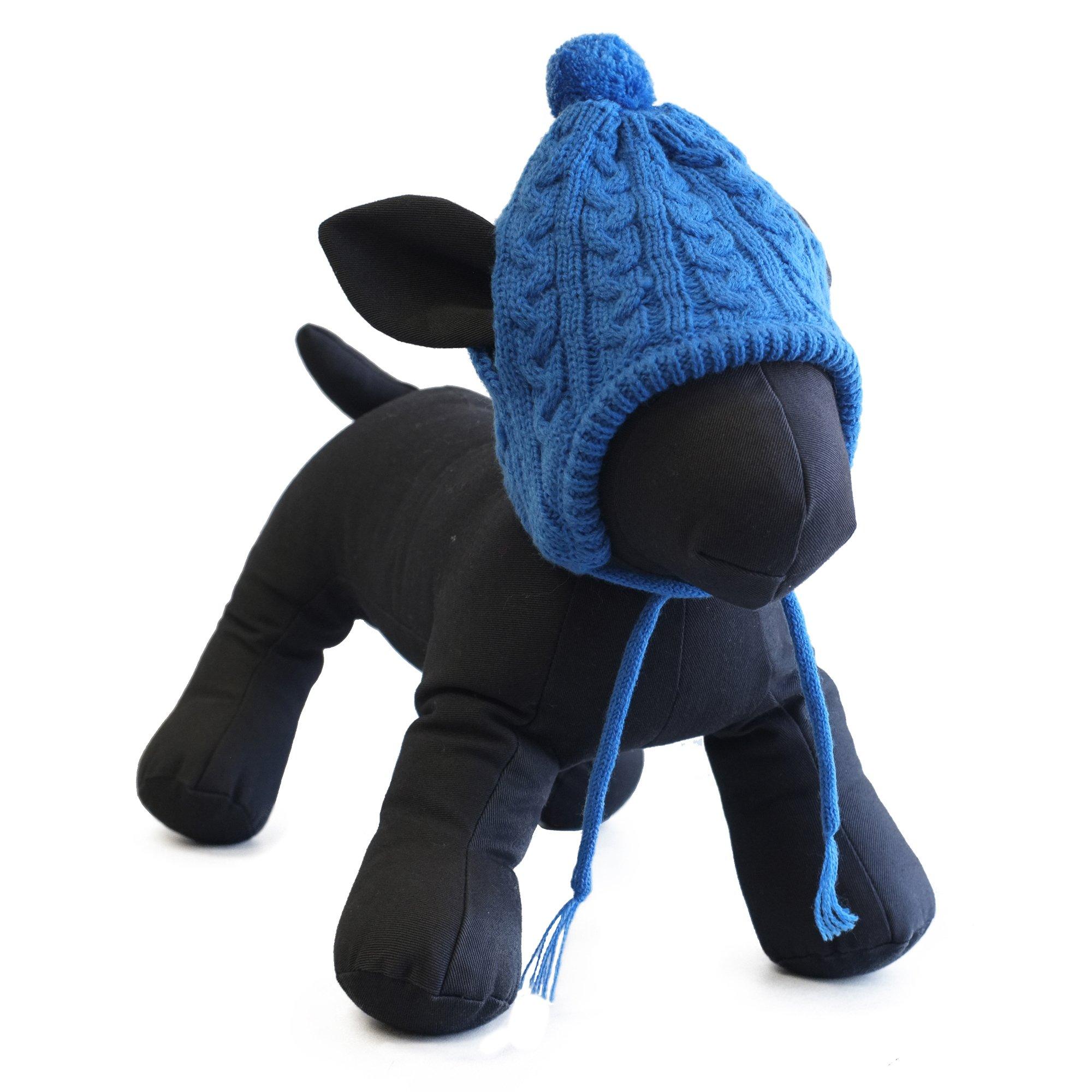 The Worthy Dog 5438 Toboggan Hat, Blue, L