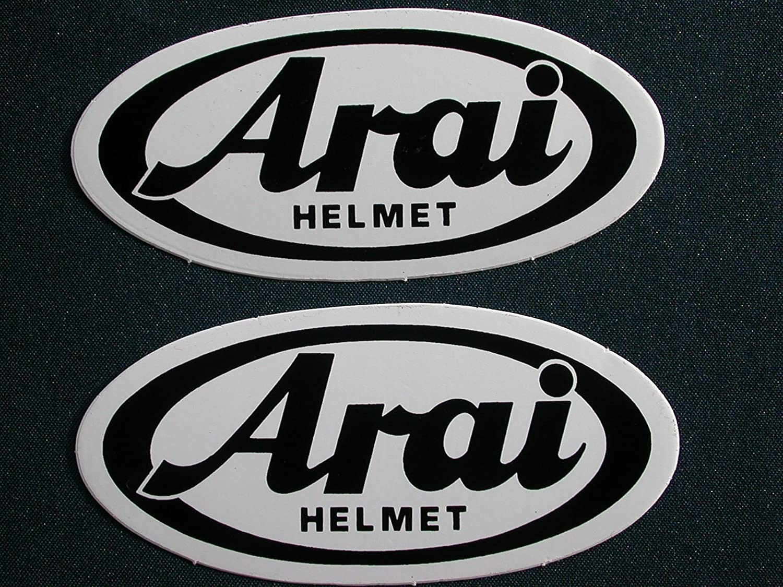 casque set of 2 pieces ARAI logo stickers decals autocollant