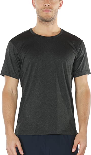 Workout Shirts for Men - Gym Clothes Active Athletic Yoga Fitness Running Short Sleeve Top Tshirts