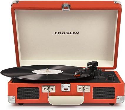 Crosley - Tocadiscos Crosley Portátil Deluxe BT Naranja: Amazon.es ...