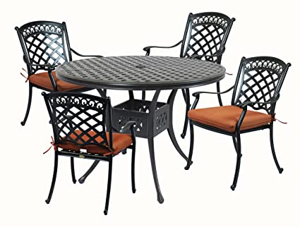 Summerset Patio Furniture.Amazon Com Summerset Casual St Tropez Aluminum 5 Piece 42 In