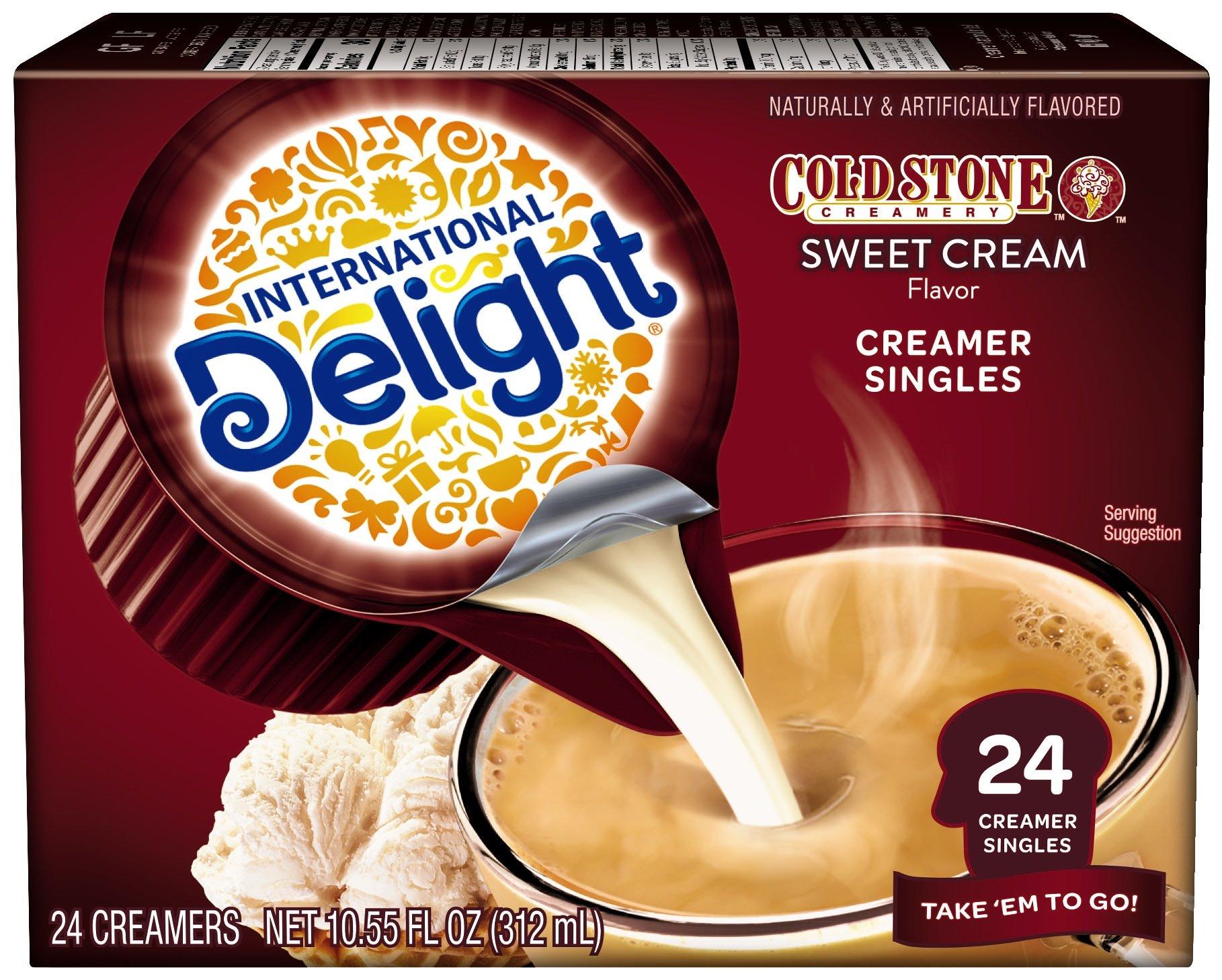 International Delight Cold Stone Sweet Cream Single-Serve Coffee Creamer Singles, 24 count