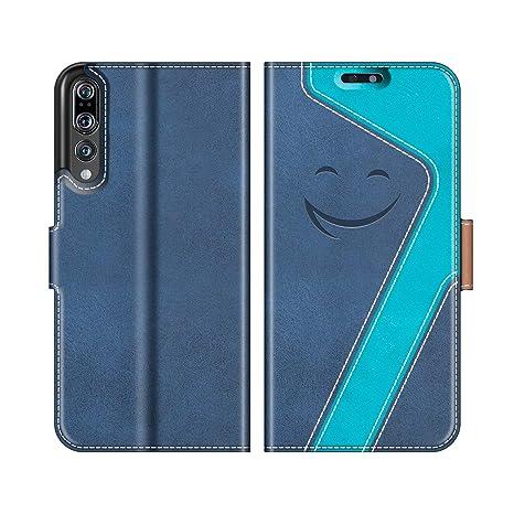 MOBESV Smiley Funda Cartera Huawei P20 Pro Magnético, Funda Cuero Movil Huawei P20 Pro Carcasa Case con Billetera/Soporte para Huawei P20 Pro, Azul ...