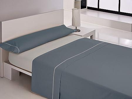Happy Home Juegos sabanas, Algodón, Azul, Cama 90 cm: Amazon.es: Hogar