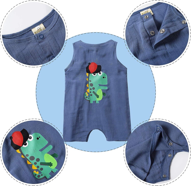 Nwada Ropa Bebe Ni/ño Pijama Corto Mamelucos Verano Disfraz Fiesta Pelele Camiseta Mono Recien Nacido Body Bautizo