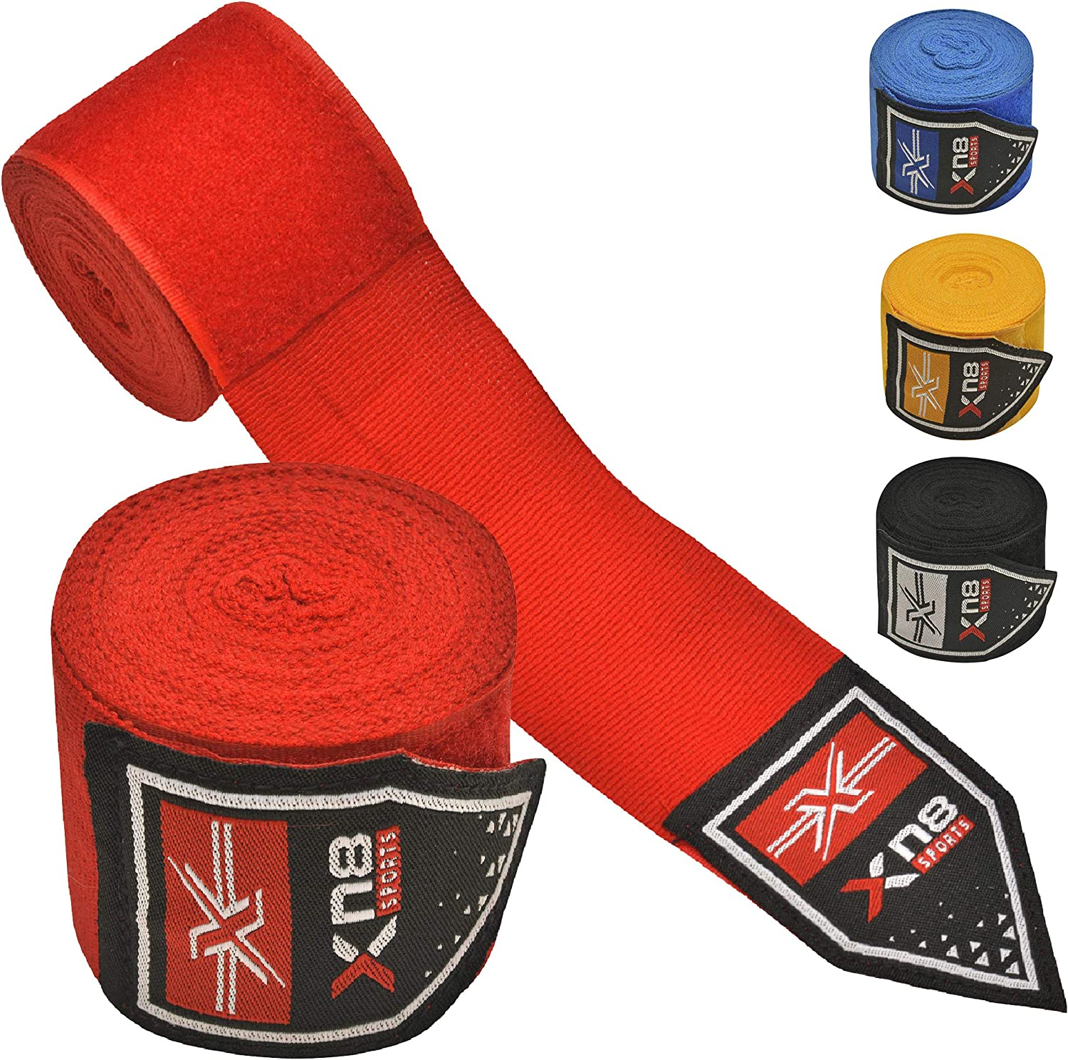 4.5 Meter Elasticated Bandages under Mitts Martial Arts Training Combat Sports Ideal for MMA Kickboxing Inner Gloves Bandages for Punching XN8 Boxing Hand Wraps Muay Thai