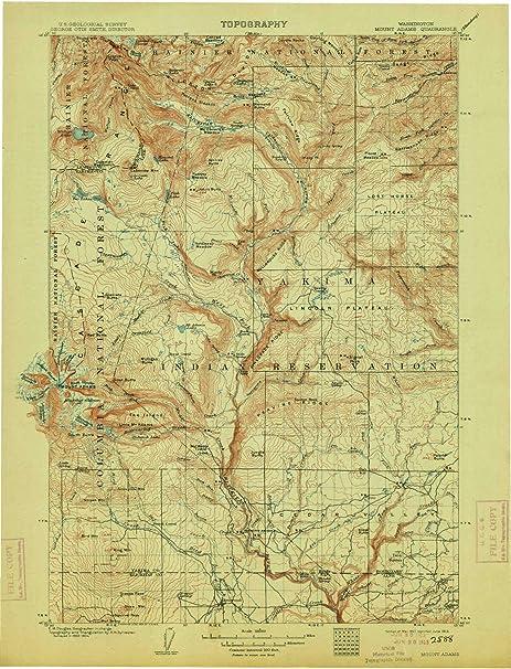 Mt Adams Washington Map.Amazon Com Yellowmaps Mount Adams Wa Topo Map 1 125000 Scale 30