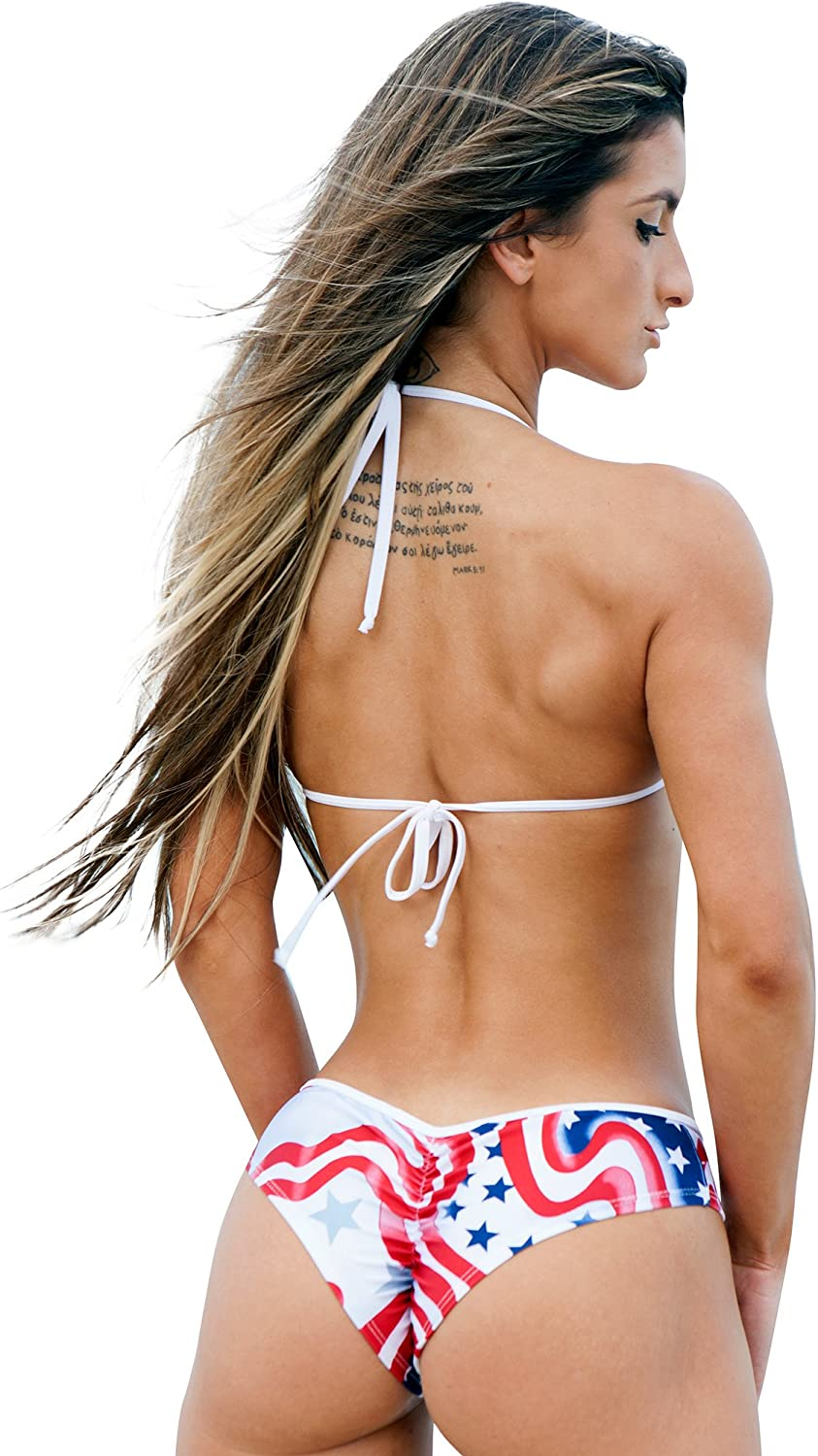 Sassy Assy Red White and Blue Stars-Stars One Piece Monkini