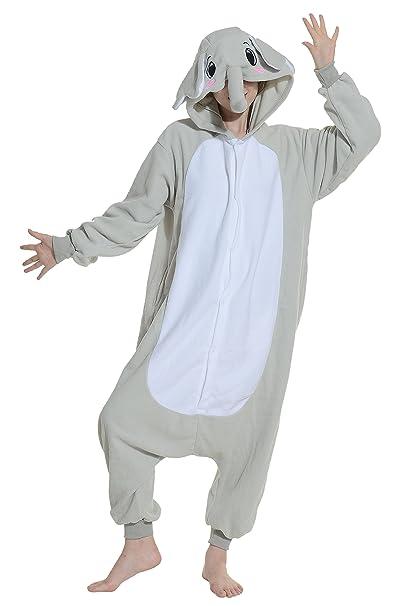 Cosplay Animales Pijamas Mujer Invierno Novedad Navidad Traje Disfraz Adulto Elefante