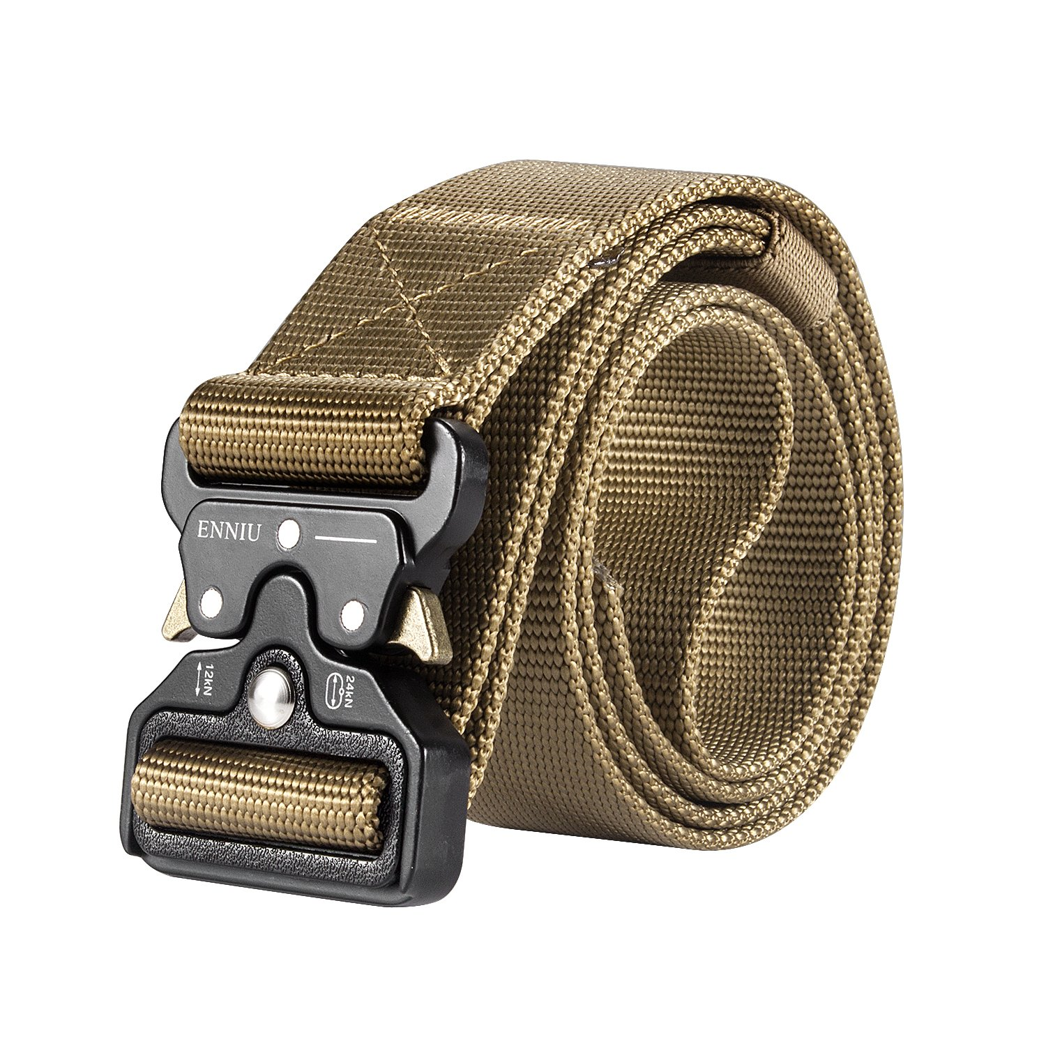 Motusamare Tactical Belt Heavy Duty Military Style Webbing Riggers Web Belt with 1.5