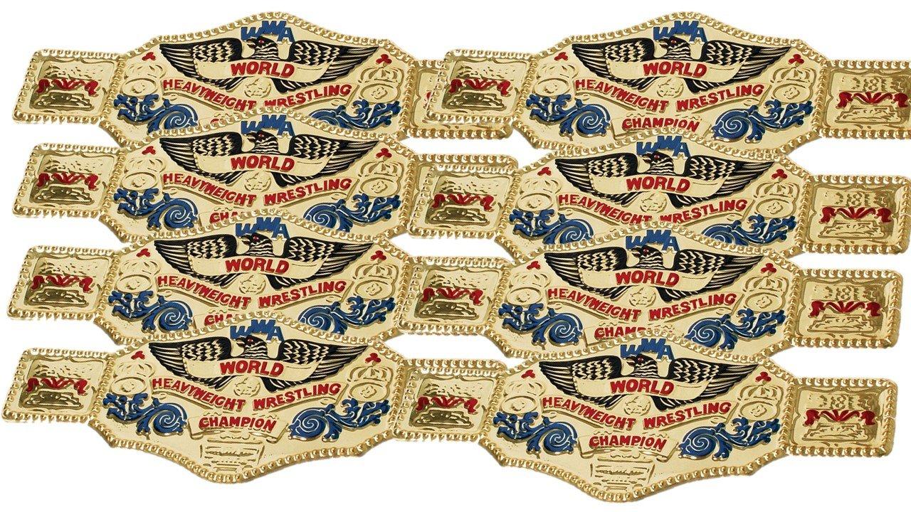 16 piece World Wrestling Champ Gold Kids Plastic Party Belts
