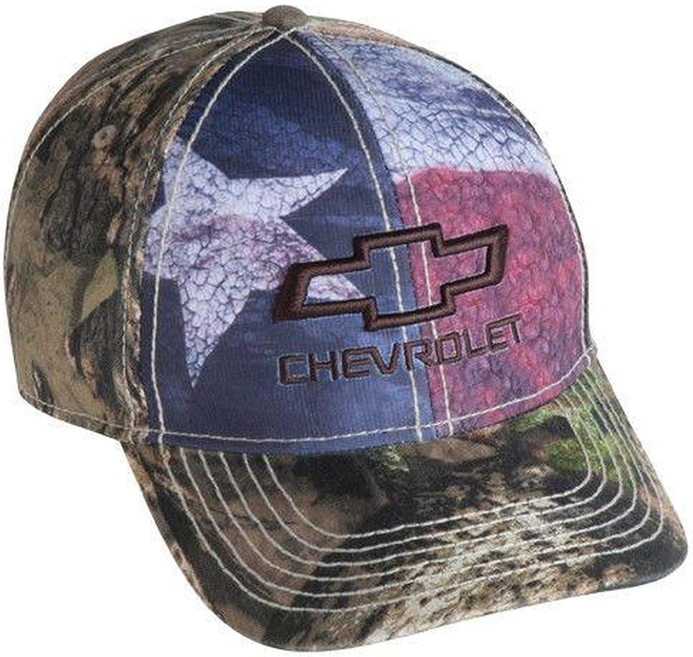 Chevrolet 3D Bowtie American Flag Camo Hat