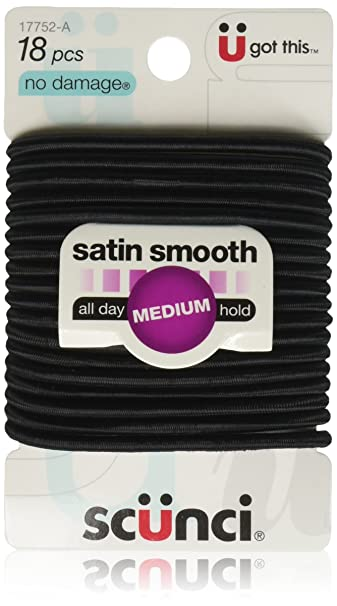 Amazon.com   Scunci No Damage Elastic Hair Bands 5e5c0a6d2d2