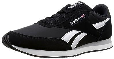 Reebok Men's Royal CL Jogger 2 Classic Shoe, United States-Black/White/