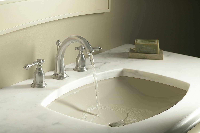 KOHLER K 2382 0 Kelston Undercounter Bathroom Sink, White   Under Mounted  Sinks   Amazon.com