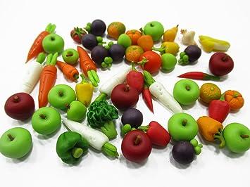 Amazon Com Dollhouse Miniatures Food Lot 50 Mixed Fruit Vegetable