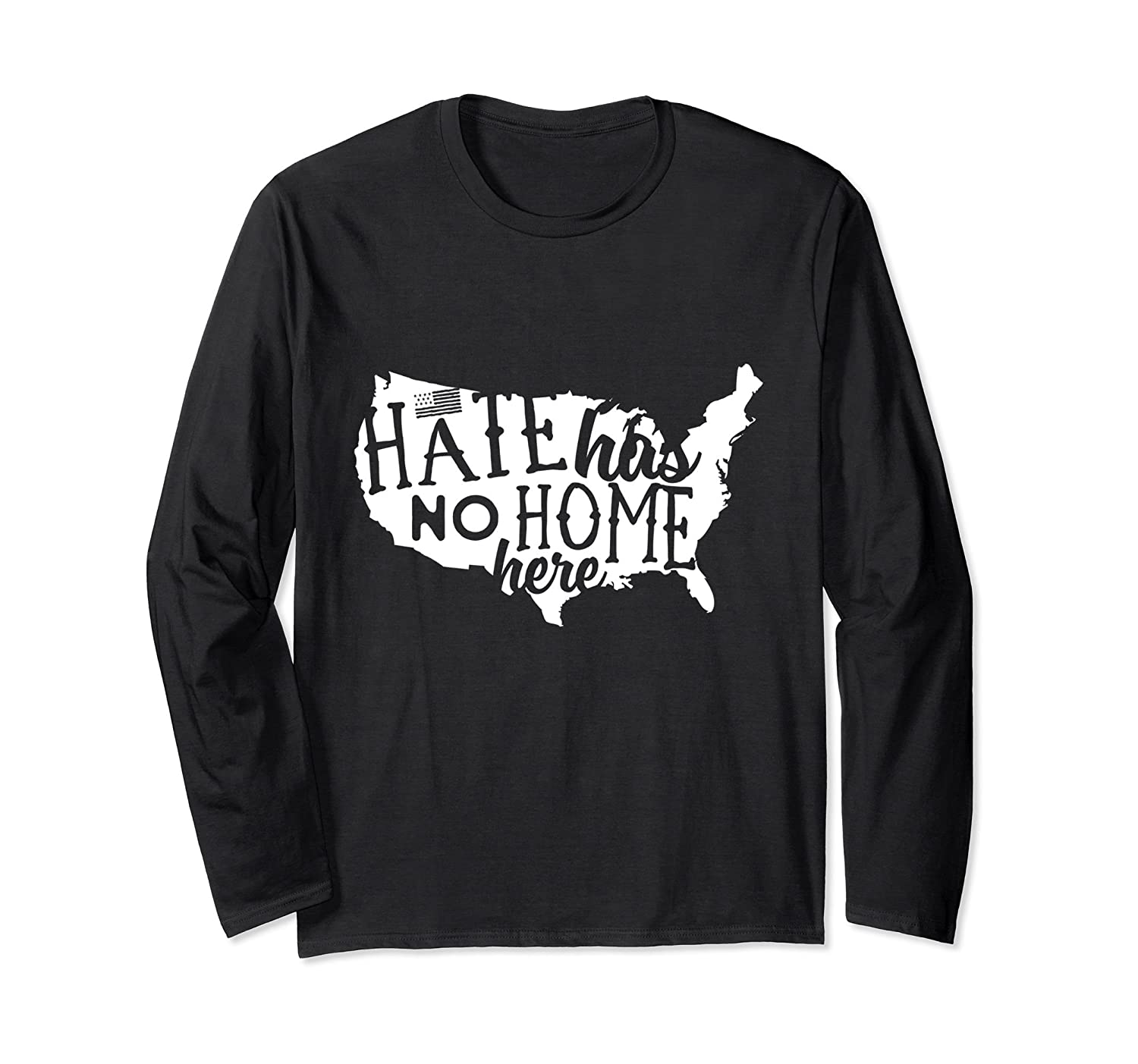 Hate Has No Home Here Tolerance Long Sleeve T-Shirt-Rose