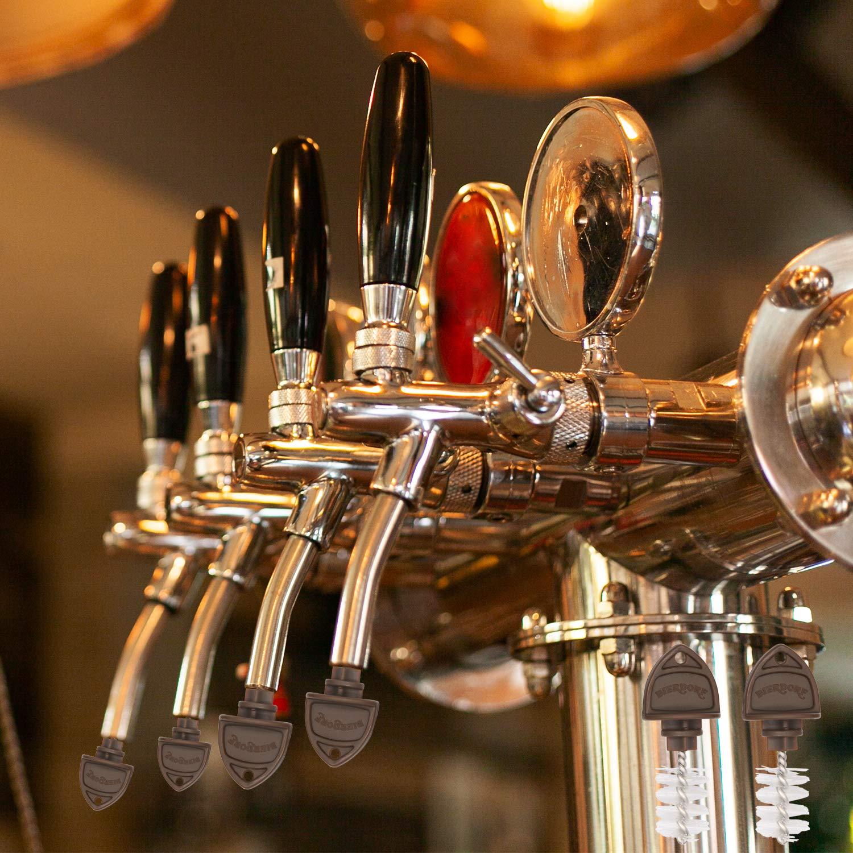 Bierdorf Beer Tap Plug Brush, Beer Faucet Brush Plugs - 15 Pack - EU Exclusive