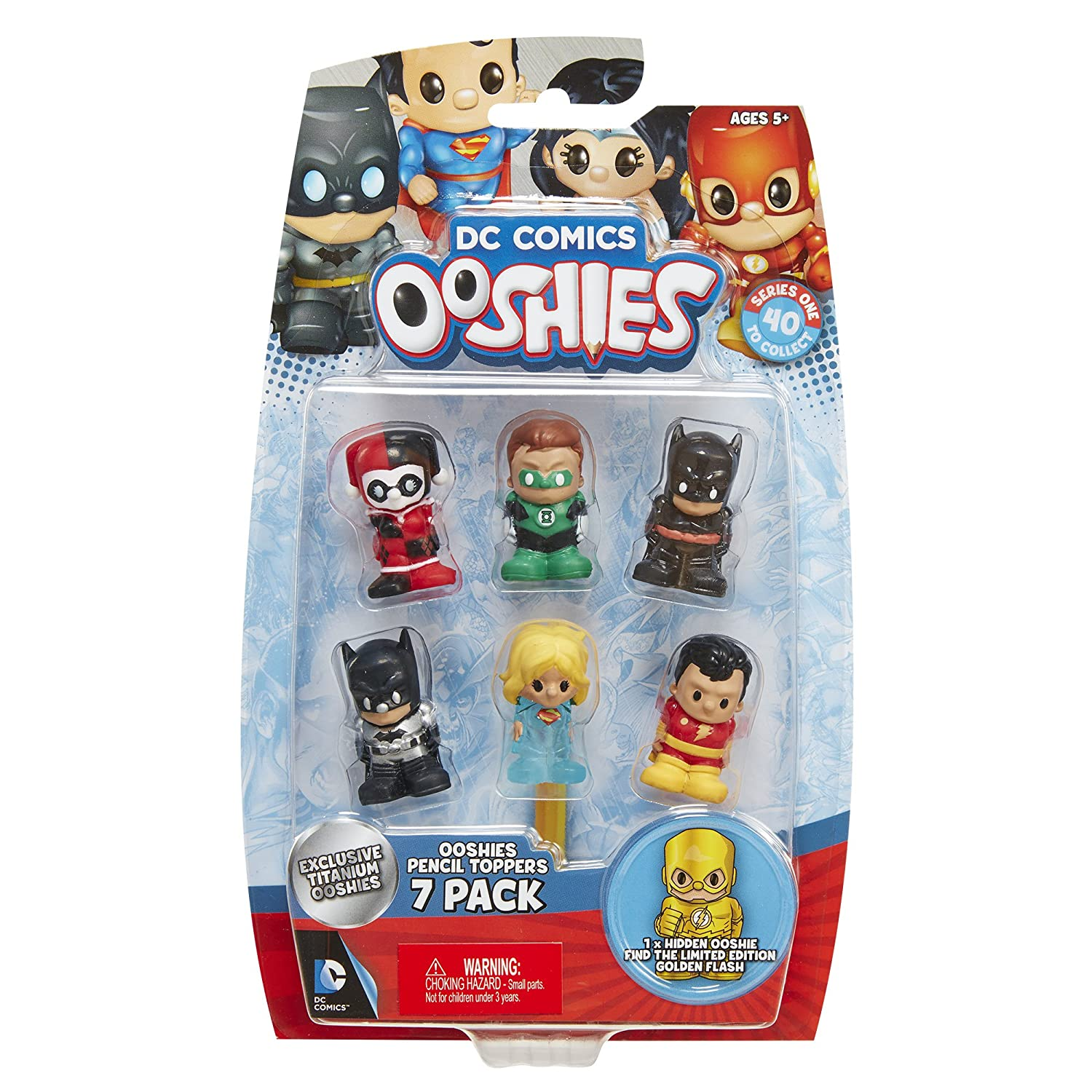Ooshies Set 1 DC Comics Series Series Series 1 Action Figure (7 Pack) a19416