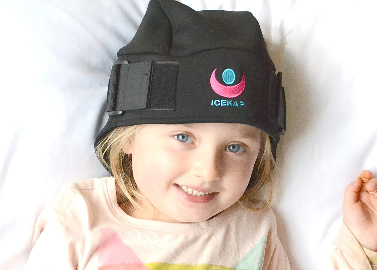 Children's Icekap Original- Cooling and Warming Compress Cap for Headaches and migraines (Medium Original- Up to 21 inches in Circumference)