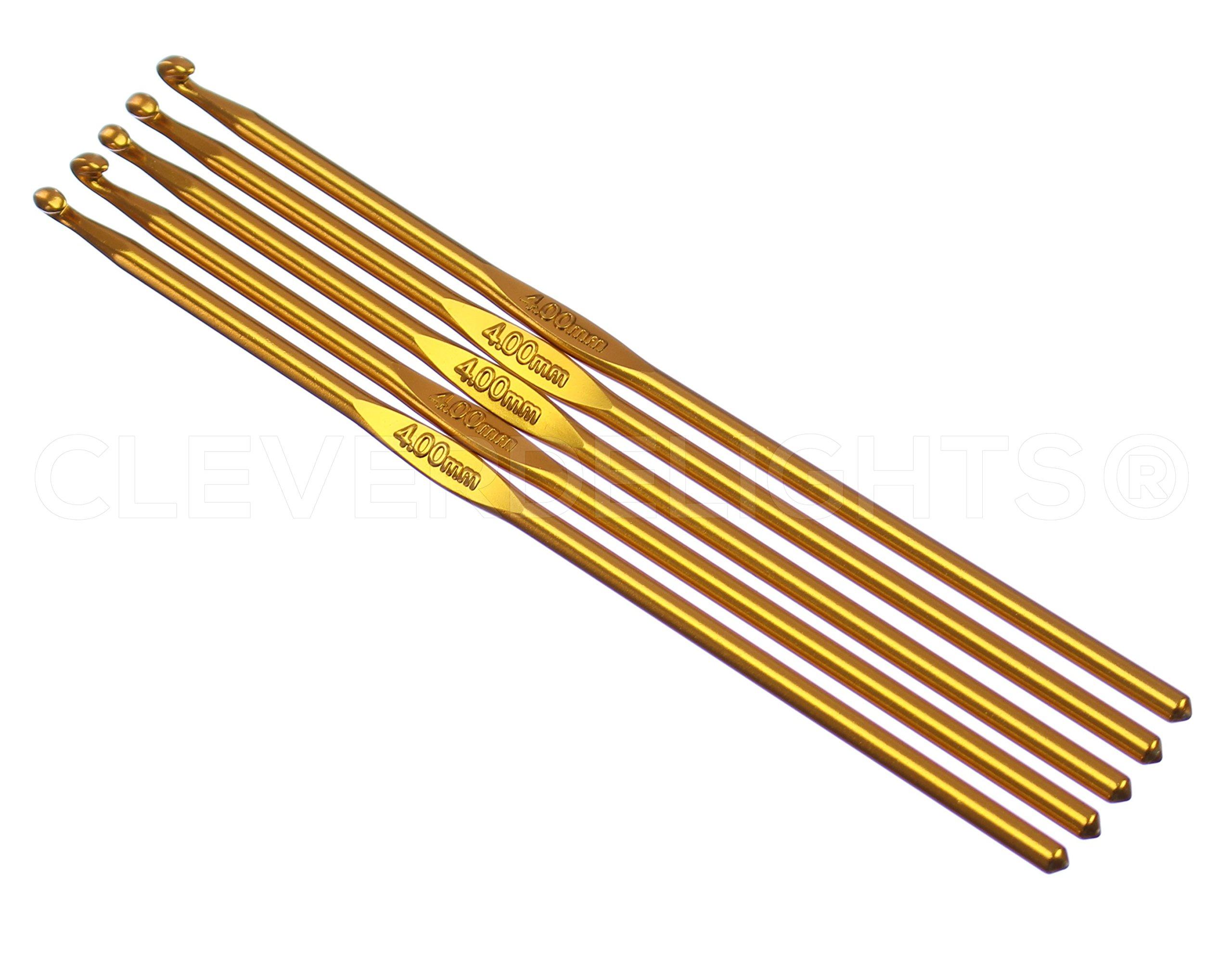 Cleverdelights - Paquete de 10 Agujas, diametro 4 mm