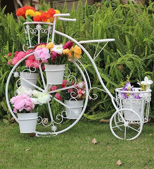 ZENGAI Bicicleta Macetero Jardinería Retro Metal Hierro Tienda ...