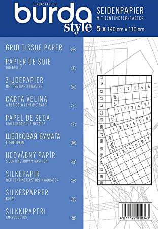 burda style Seidenpapier mit cm-Raster: Amazon.de: Küche & Haushalt