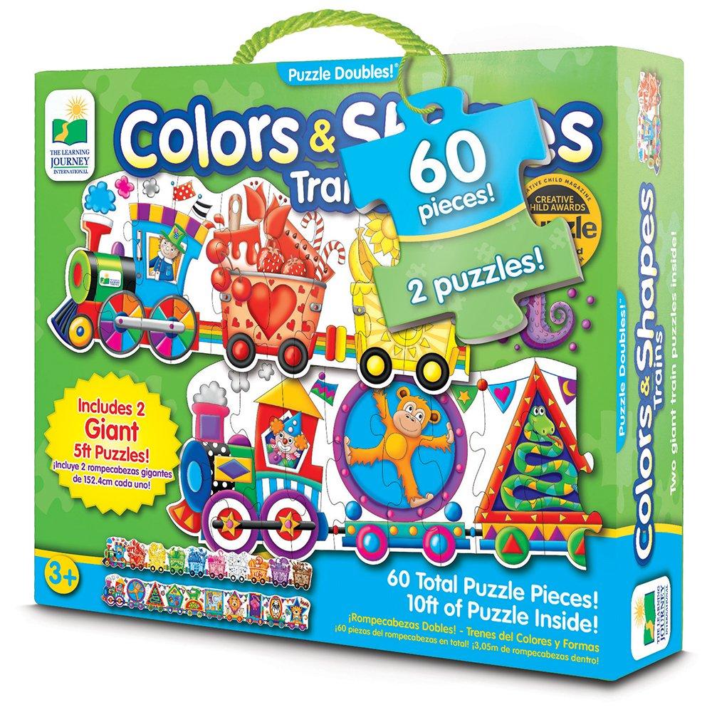 100% a estrenar con calidad original. Learning Journey El Viaje Viaje Viaje de Aprendizaje 109564 Doubles Gigante Formas y Colores Tren Puzzle para Suelo  wholesape barato