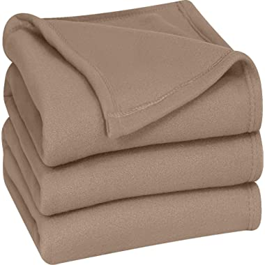 Utopia Bedding Polar Fleece Premium Bed Blanket - Extra Soft Brushed Microfiber - Lightweight, Cozy and Durable - Machine Washable (Queen, Tan)