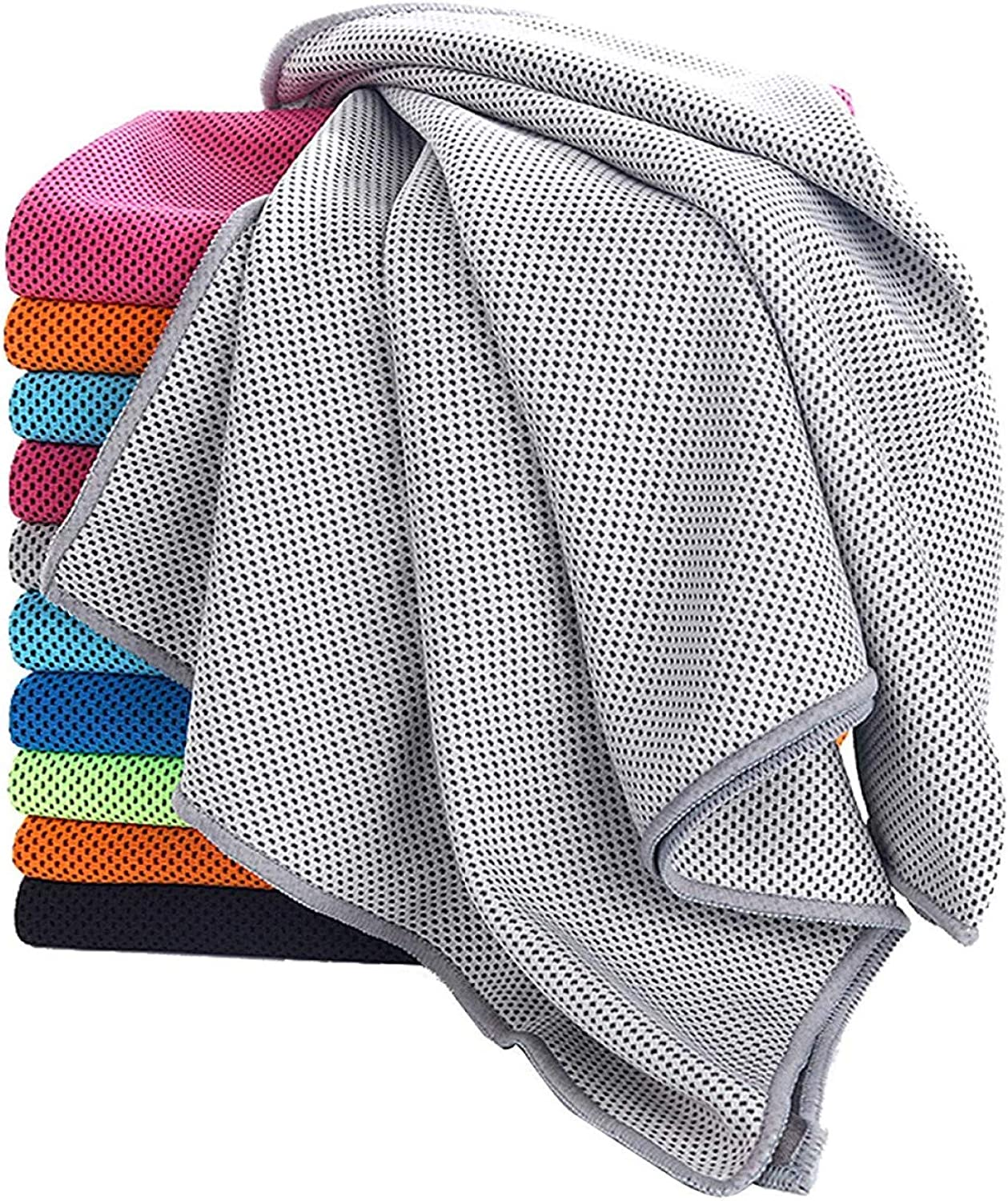 Instant Cooling Towel For Neck, Summer Cooling Towel For Athletes, Super Absorbent Snap Ice Towel, Soft Chilly Towel for Yoga, Hiking, Travel, Gym, Fitness, Pilates, Running, Outdoor Activities