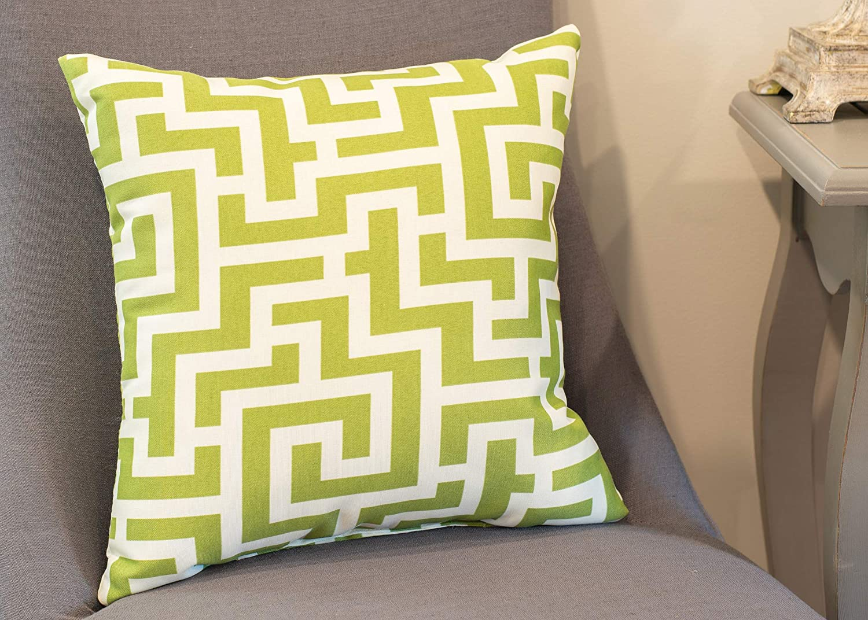 Aqua Blue Aquarius Tiny Weave Print 16 x 16 Indoor Outdoor Throw Pillow