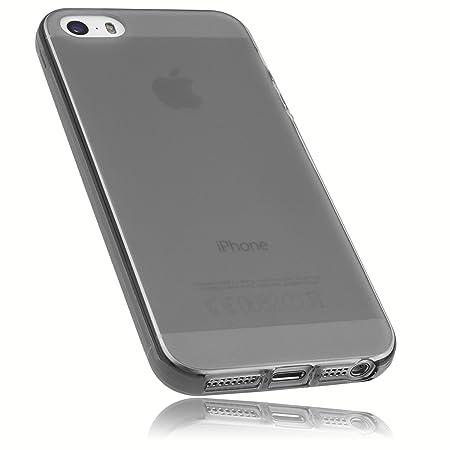mumbi TPU Silikon Schutzhülle für iPhone SE 5 5S Hülle transparent schwarz