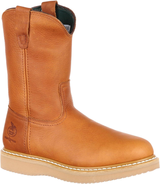 Wedge Steel Toe Work Boots - G5353