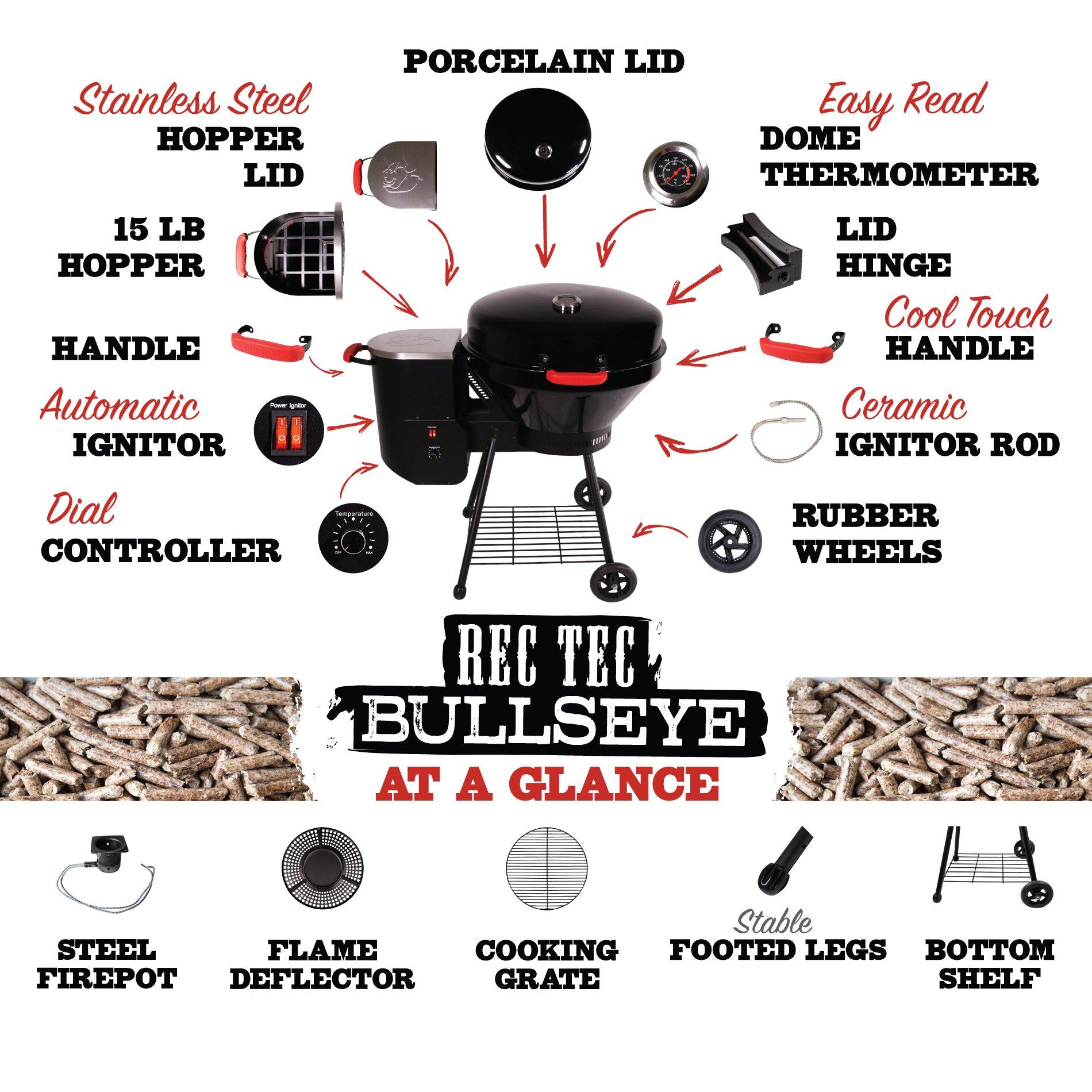 REC TEC Grills Bullseye | RT-B380 | Bundle | Wood Pellet Grill | 15lb Hopper | 2 Year Warranty | Hotflash Ceramic Ignition System by REC TEC Grills (Image #6)